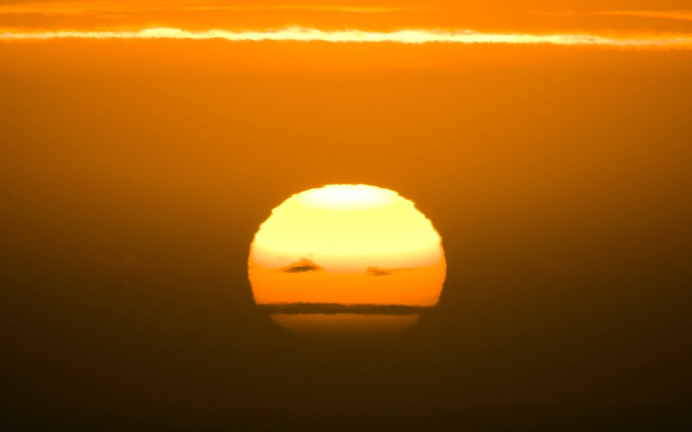 Grumpy sun set over the Atlantic Ocean. as seen from Yzerfontein.