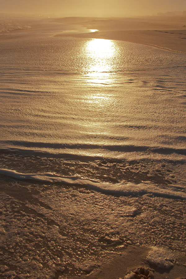 sea shine - the glare coming off the beach at sunset. Pearl Bay, Yzerfontein.
