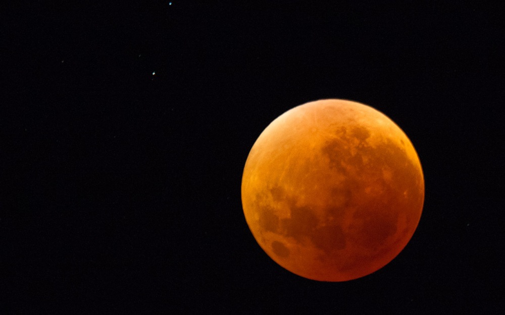 Syzygy - the blood moon or lunar eclipse. This morning's lunar eclipse was remarkable for being linked to the